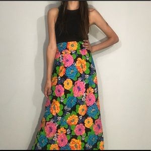 🌼NEW🌼 1960s floral maxi skirt